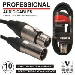 Cabo Microfone XLR 10MTS